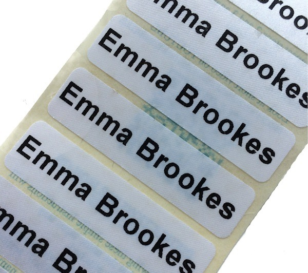 IRON ON NAME LABELS, Name Labels