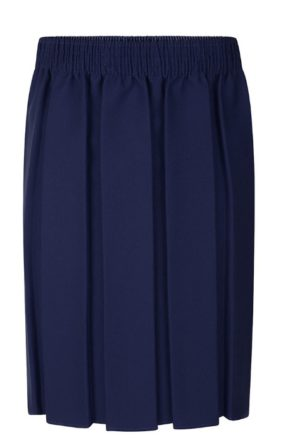BOX PLEATED SKIRT - NAVY, Skirts and Pinafores, Seven Kings High School, Valentines High School