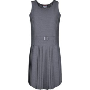 FALSE BELT PINAFORE - GREY, Skirts and Pinafores, Christchurch Primary School, Newbury Park Primary School, Parkhill Infants, Read Academy, Seven Kings Primary School, Sir John Heron, St Bedes Primary School