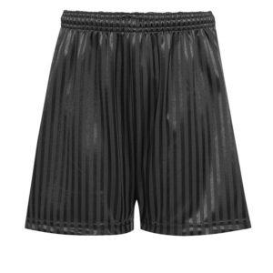 SHADOW STRIPE SHORTS - BLACK, PE Shorts, Frobel Independent, St Bonaventure's, Stratford Academy, Valentines High School, Woodbridge High School